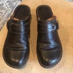 BOC leather slides